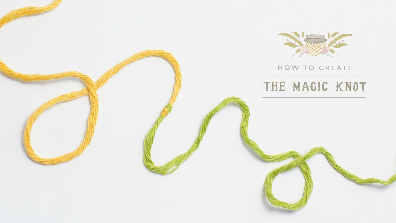 Knitting Joining Yarn Double Knot : How to the magic knot yarn join easy tutorial by