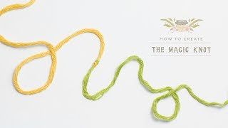 How To: The Magic Knot (Yarn Join) | Easy Tutorial by Hopeful Honey thumbnail