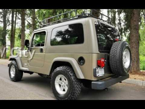 2005 jeep wrangler unlimited 4x4 long wheel base 1 owner for sale in milwaukie or youtube. Black Bedroom Furniture Sets. Home Design Ideas