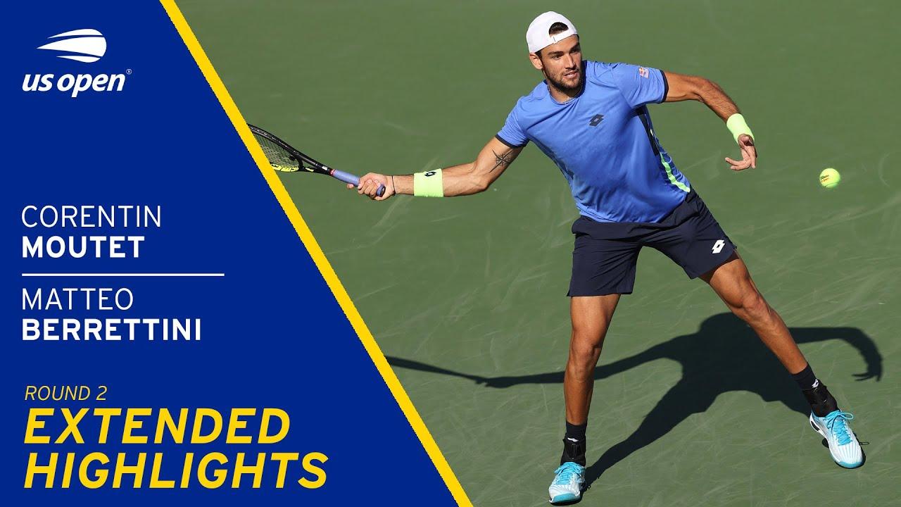 Corentin Moutet vs Matteo Berrettini Extended Highlights | 2021 US Open Round 2