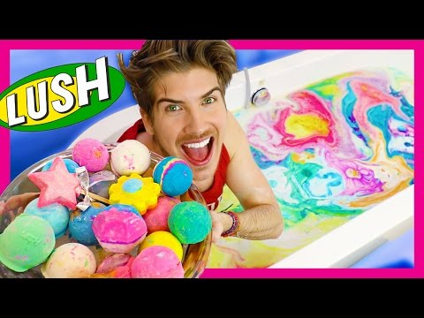 EVERY LUSH BATH BOMB EXPERIMENT!