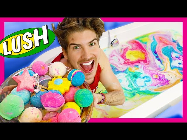 EVERY LUSH BATH BOMB EXPERIMENT!