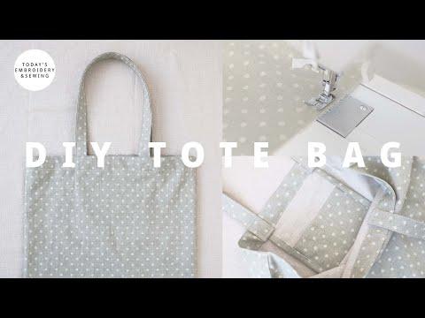 DIY tote bag tutorial + sewing for beginners (FREE PATTERN)