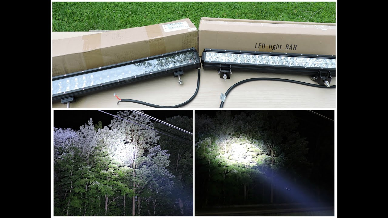 Cree Vs Osram Led Light Bar Comparison Youtube Wiring Diagram For Also Lights Bulbs Lighting