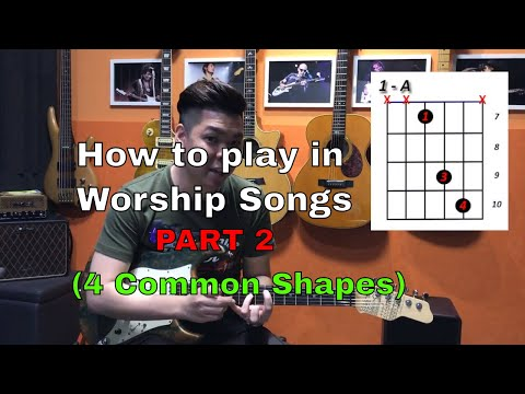 Guitar Emerge - Electric Guitar Tutorial - How to play in worship songs Part 2 (4 Common Shapes)