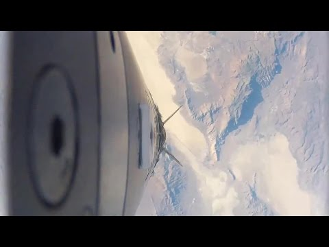 Flat Earth:  Rocket with 4 GoPro cameras reveals NASA space hoax!   Space is water.