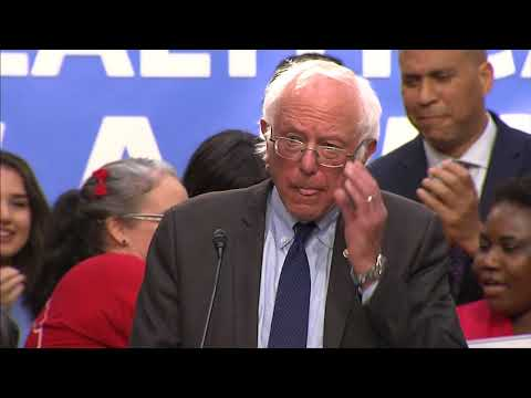 WATCH: Bernie Sanders, other Democrats discusses Medicare-for-all health care bill