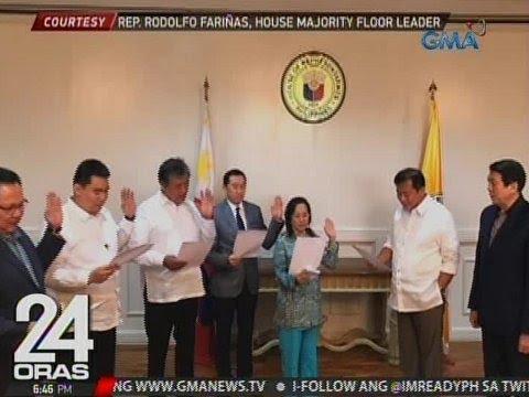 24 Oras: Rep. Gloria Arroyo at Rep. Arthur Yap, kabilang sa mga lumipat sa PDP-Laban