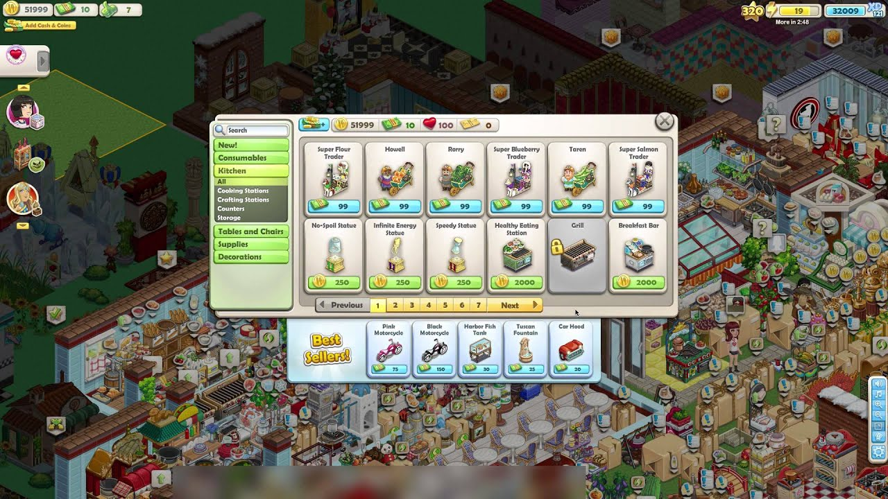 Old Facebook Games Zynga S Chefville Youtube