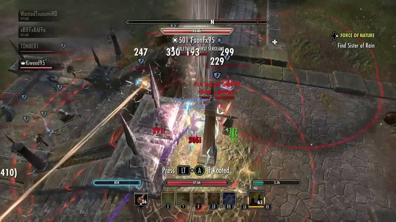 ESO how to be a zerg tank healer! Templar healer PvP