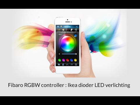 Project  RGBW module met Dioder Led Strip Ikea - YouTube