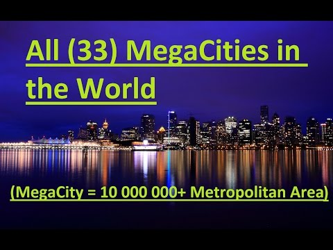 All (33) MegaCities(10 000 000+) in the World