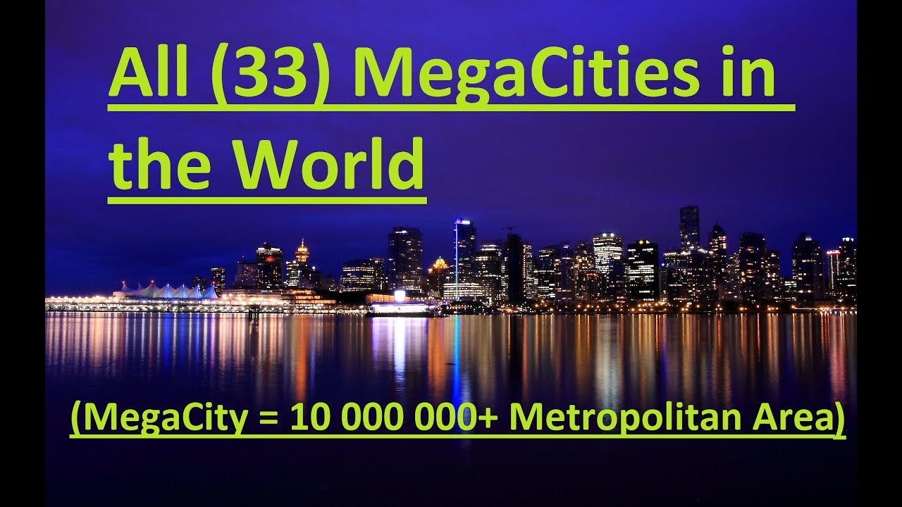 All (33) MegaCities(10 000 000+) in the World - YouTube