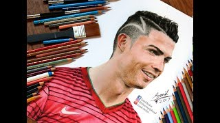 Drawing of Cristiano Ronaldo .....  Featured on