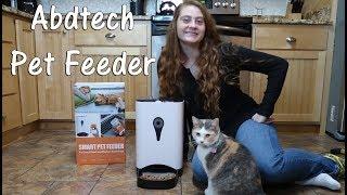 🐶 ABDTECH AUTOMATIC PET FEEDER APP CAT DOG 👀 SMART FEEDER CAMERA REVIEW 👈