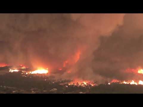 'Fire whirl' over Lake Keswick Estates in Redding Calif.
