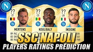 FIFA 20 | SSC NAPOLI PLAYERS RATINGS PREDICTION | w/ Koulibaly, Insigne & Mertens