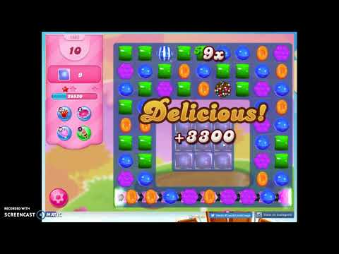 Candy Crush Level 1662 Audio Talkthrough, 2 Stars 0 Boosters