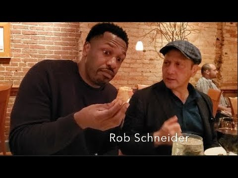 Eating Crab Wonton with Rob Schneider