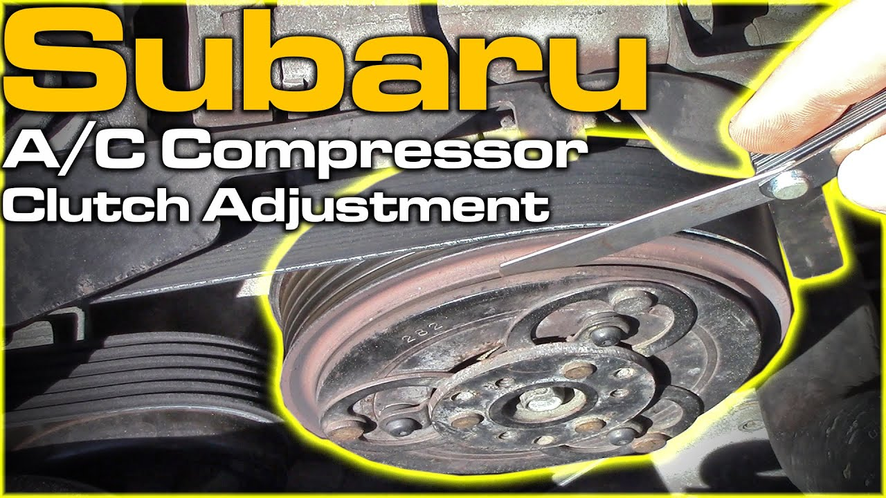 Subaru Tribeca 2016 >> Subaru A/C Compressor Clutch - YouTube