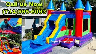 HOW TO SET UP A COMBO INFLATABLE JUMPER