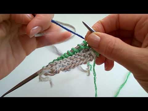 Как сменить цветную нить без узлов