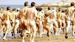 Naked man running during olympics 2012
