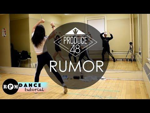 "PRODUCE48 ""Rumor"" Dance Tutorial (Pre-Chorus, Chorus)"