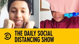 Trevor Noah Learns How To Make A Face Mask | The Daily Show With Trevor Noah