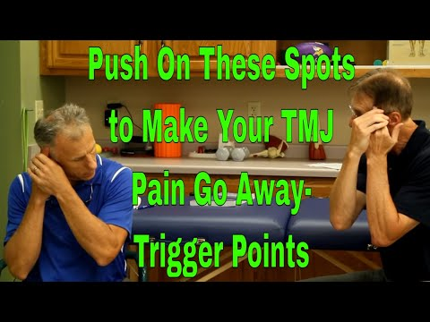 Push On These Spots To Make Your TMJ Pain Go Away- Trigger Points
