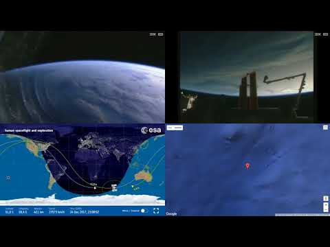 Orbital Sunrise Towards Australia - Space Station Earth View LIVE NASA/ESA ISS Cameras And Map - 86