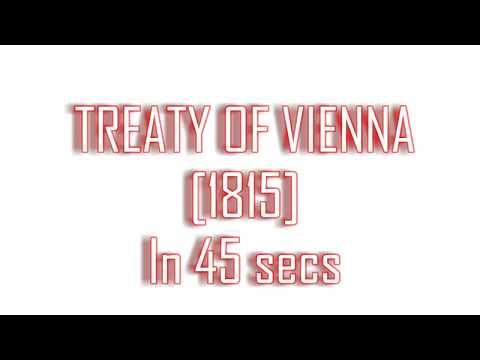 Class 10 History Treaty of Vienna in 45 secs