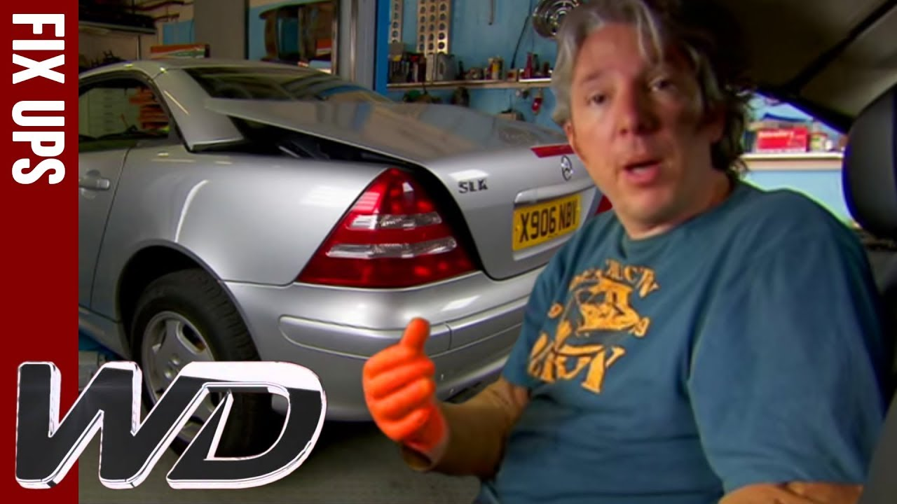 hight resolution of how to repair a mercedes slk roof wheeler dealers top tips