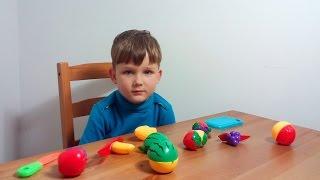 Фрукты и овощи. Детская резалка фруктов