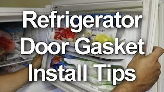 Refrigerator Door Gasket Installation Tips - New Door Seals or Reversing the Doors