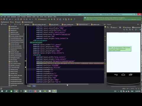 Android UI Design Tutorial