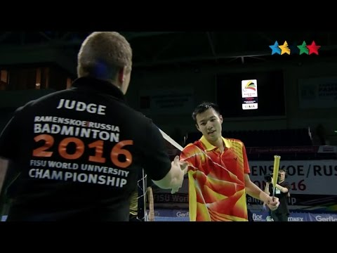 Mens Single Final - 14th FISU World University Championship BADMINTON 2016 - Ramenskoe -Russia