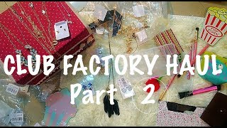 THE CLUB FACTORY HAUL |TheLifeSheLoved| Sana K |Part - 2