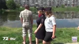 Полиция накажет за детей в пруду