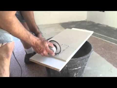 Taglio piastrelle gres porcellanato come da scheda tecnica zzate
