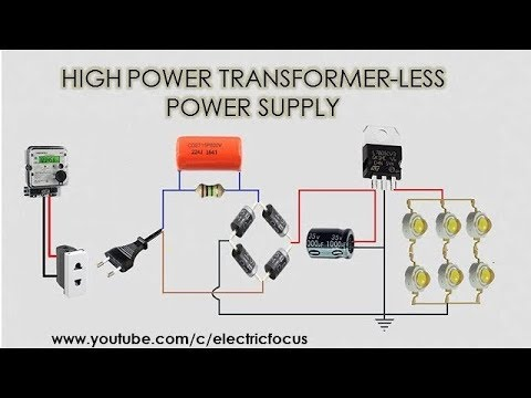 """""""Transformer less power supply design"""" with calculation"""