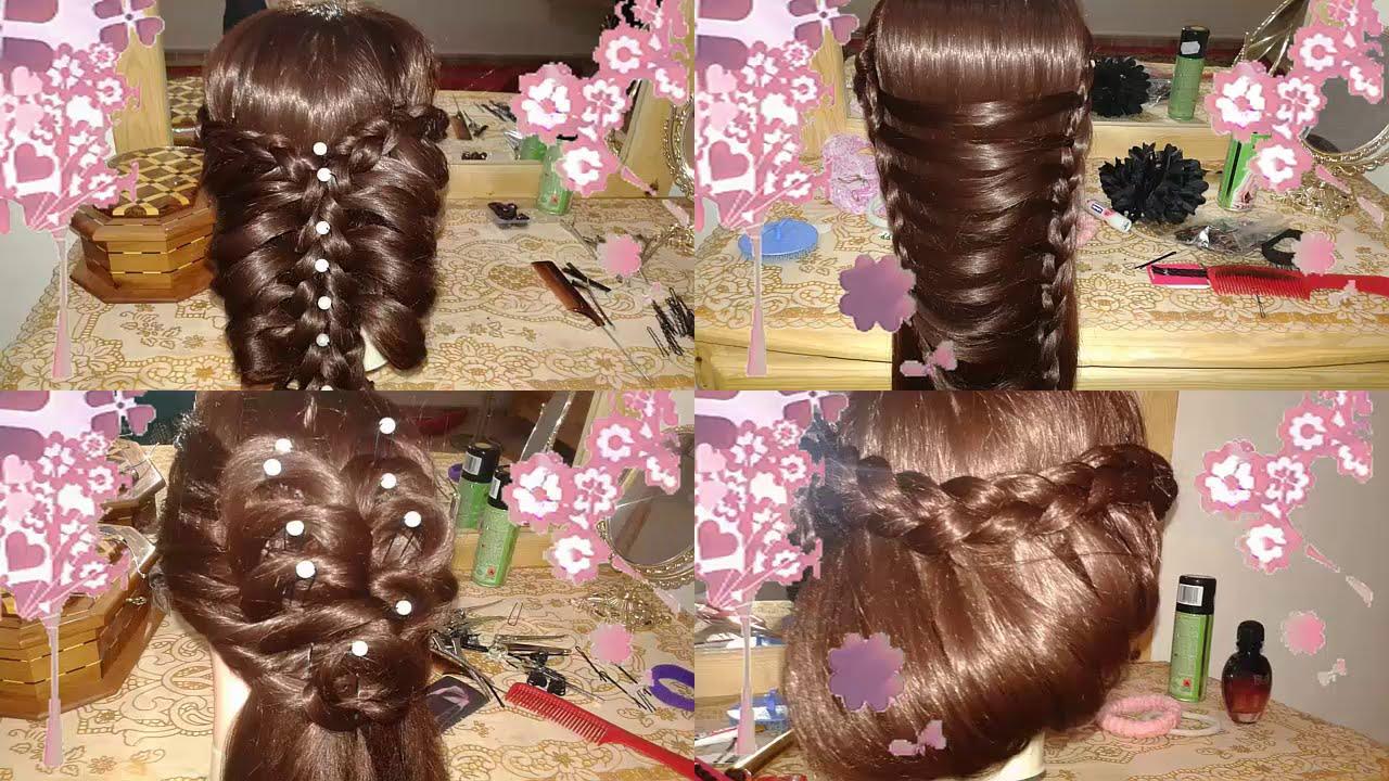 peinados faciles bonitos y rapidos con trenzas para niña con cabello largo  2015
