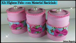 Kit Higiene Feito com Material Reciclado