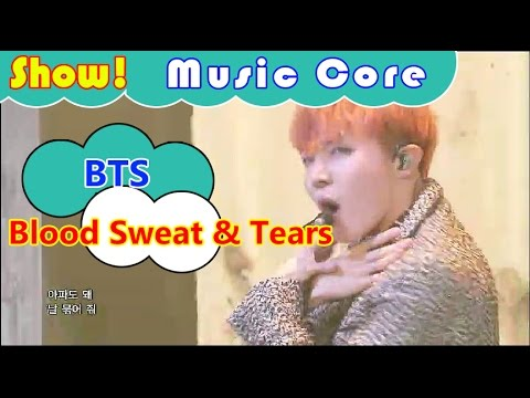 [Comeback Stage]  BTS - Blood Sweat & Tears, 방탄소년단 - 피 땀 눈물 Show Music core 20161015