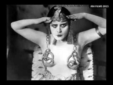 Theda Bara (1885-1955) - In 'Cleopatra' (1917) and Speaking About Silent Film Acting Technique