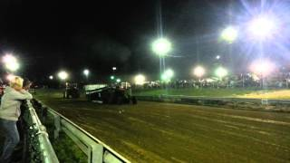 Oliver Super 99 (with a 3-71 Detroit Diesel) Tractor Pull - Salem County 4H Fair 8/08/14