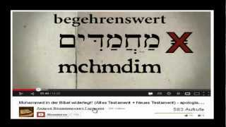 Re: Mohammed in der Bibel widerlegt! (Altes Testament + Neues Testament) - Antwort