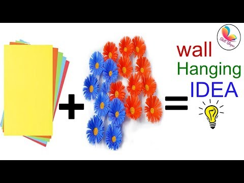 DIY paper wall hanging| Web gallery of art| diy art and craft| cool diys