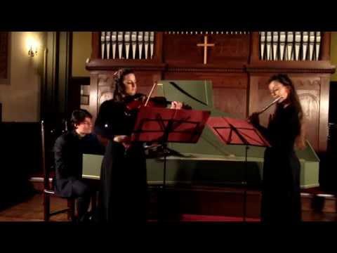 CPE Bach - 12 kleine Stücke - Presto - Baracani (flute), Lentini (violin), Paganelli (harpsichord)