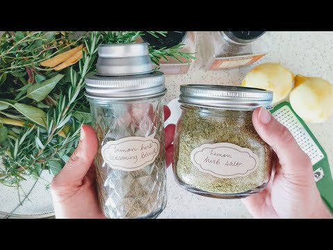 Lemon Herb Salt || Recipe